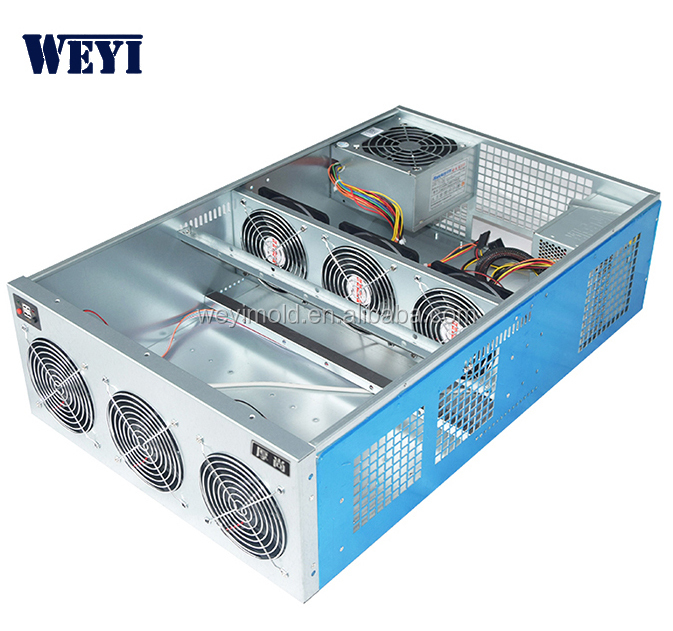 Hot selling factory board gpu miner factory computer case frontpanel 6*12038 fan Manufactory 4U PC mining miner in stock