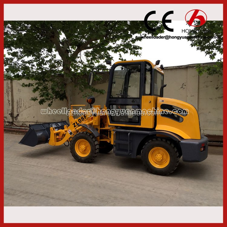 Mini Wheel Loader 800kg small wheel loader wheel loader sweeper