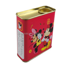 Candy gift tall rectangle tin box