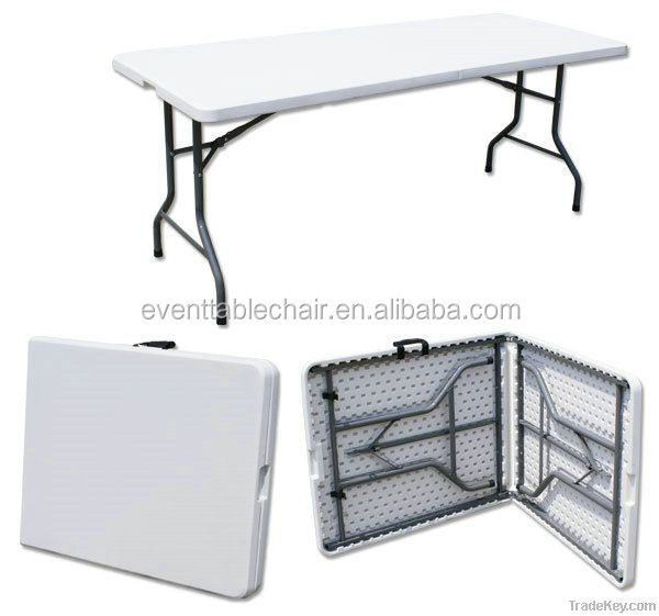 plastic folding rect table for outdoor or banquet/plasti round table