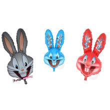 81*44cm Bugs Bunny Rabbit Head Foil Animal Balloons Cartoon Looney Tunes Animal Ballons kid's Classic Toys Party decoration