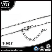 316l stainless steel jewelry curb bead satellite necklace small stainless steel chain