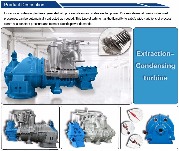 Cheapest Extraction condensing steam turbine