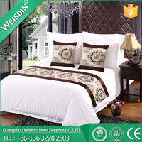 Weisdin american style cotton 3cm stripe satin fabric star hotel bedding set