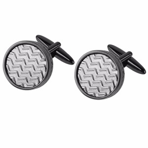 Cheap customized black custom cufflink for party