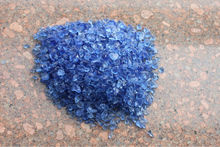 Blue glass rocks for decoration ,beautiful glass rock for garden, glass mulch