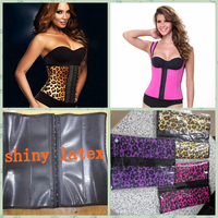 export African country shiny latex Waist trainer Corset slimming belt/waistband sexy international model body suit