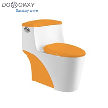 Ceramic siphonic one piece toilet yellow toilet