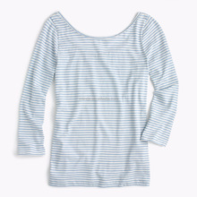 T-shirt in Europe Scoopback ballet in Stripe Manufactures in Tiru pur Blank Striped T-shirts