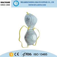 CE or NIOSH approved mining cone respirator