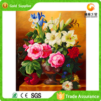 Cnvas Flower Oil Painting Bamboo Zhejiang Supplier Supply