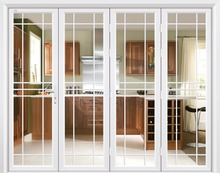 Large folding aluminum door for interior kitchen
