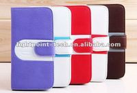 2013 hot selling wallet case for iphone 5 new Design Wallet Leather Case for iphone5