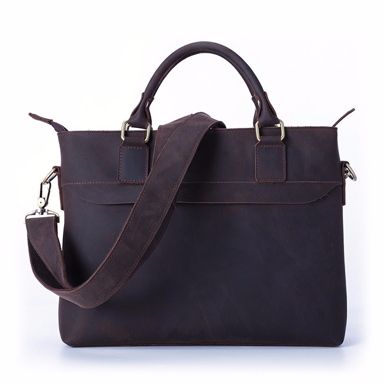 O.A Genuine Leather Multifunction 12.5 inch Laptop Bag