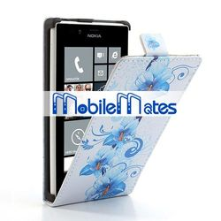 Flower Case Flip Leather Case Cover for Nokia Lumia 720