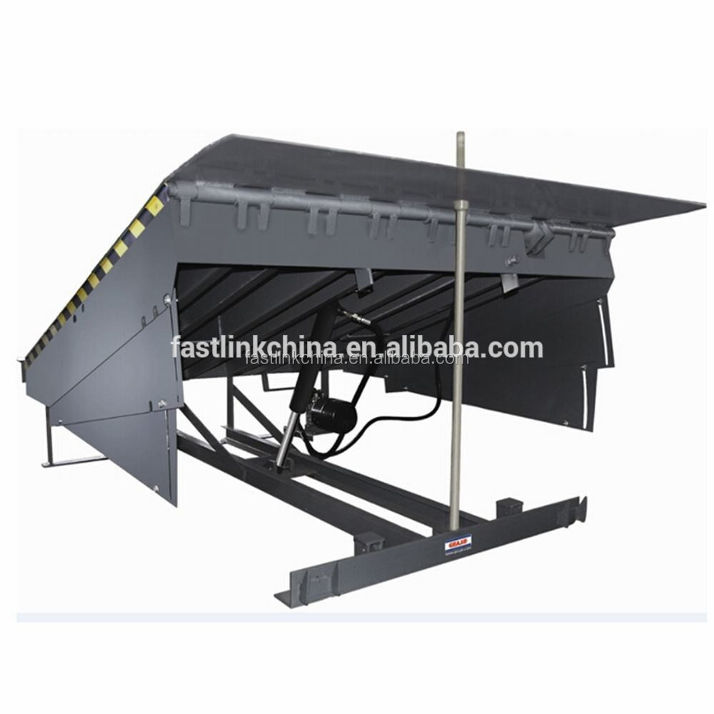 15 tons load capacity adjustable yard ramp fixed hydraulic dock leveler