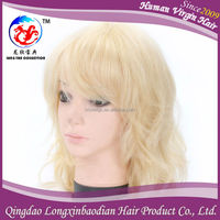 High End Chinese Hair Full Lace Wig, Blonde Human Hair Wig, Body Wave Wholesale Chinese Human Hair Full Lace Wig