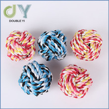 Wholesale pet cotton rope toy, dog teeth toy colored cotton balls