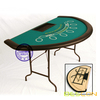 Folding Semi-circle Blackjack Table