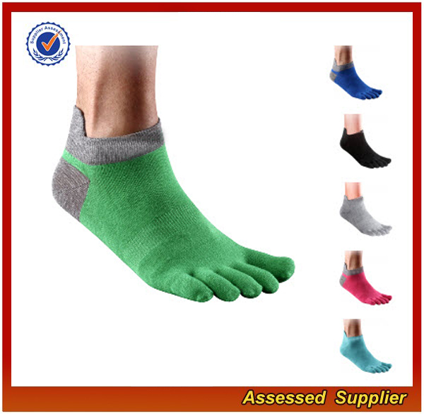 Wholesale Best Quality Custom Compression Sport Split Toe Running Ankle Socks JH59