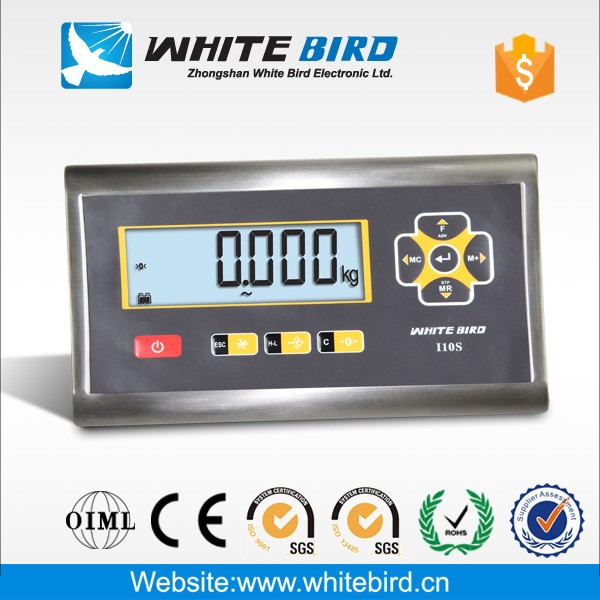RS232C water proof stainless steel large LCD with backlight weighing scale indicator