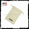 High class cotton cloth small fabric drawstring bag made in China