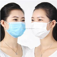 Medical supplies non woven 3ply earloop disposable face mask