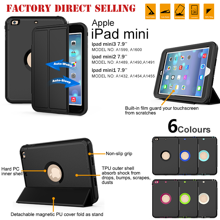 Tpu Shockproof Unique Back Leather Tablet Cover Case For iPad Mini4
