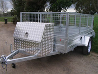 box trailer with large storage tool box