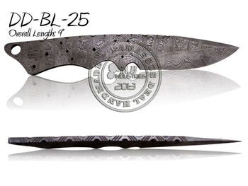Damascus Steel Knife Blade Blank