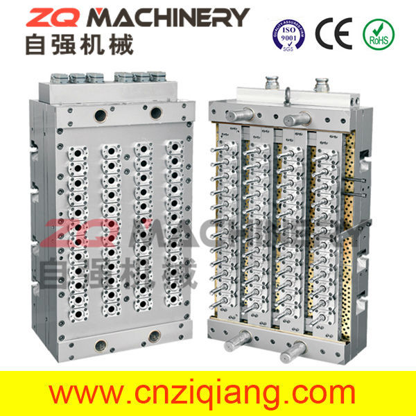 48 Cavities PET Preform Molds with Shut-Off Nozzle for variety air conditioner injection moulds moulding