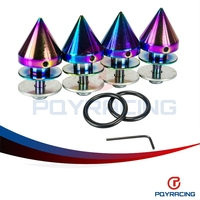 PQY STORE-New Design NEO CHROME Aluminum Quick Release Fasteners For Car Bumpers Trunk Fender Hatch Lids Kit PQY-QRF92CR