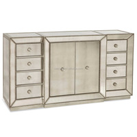 glamorous mirrored accent cabinet