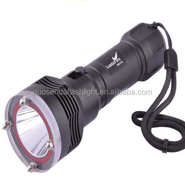 LusteFire DV115 CREE XM-L2 1200 Lumens LED Diving Flashlight (1x26650)