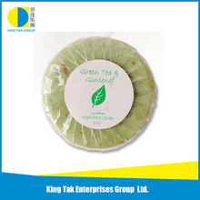Alibaba provided 30g round green color pure green tea oil soap