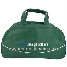 Hunter green polyester simple gym duffle bag