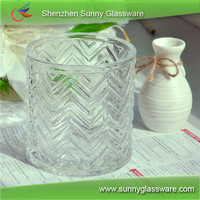 homologous series crystal glass candle holders
