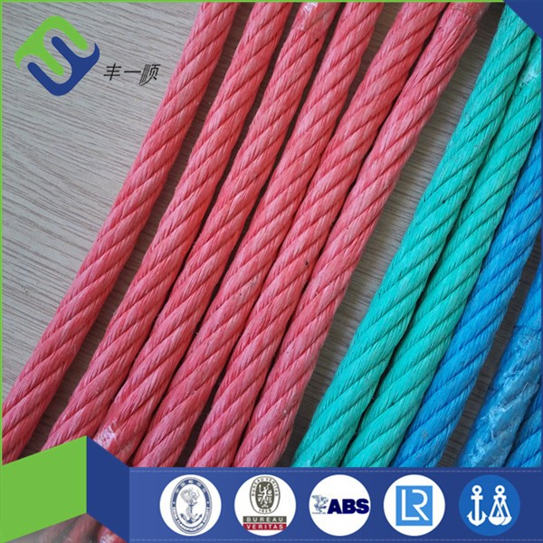 6 strand PP combination rope with wire core for trawler ship