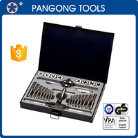 Brand OEM Service Free Sample Tool Kit 28pcs Tap and Die Set with Metal Case