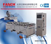 FANCH PTP481 China high speed HSD spindles 4*8 ft 3d drilling cnc router with 600 degrees high temperature quenching