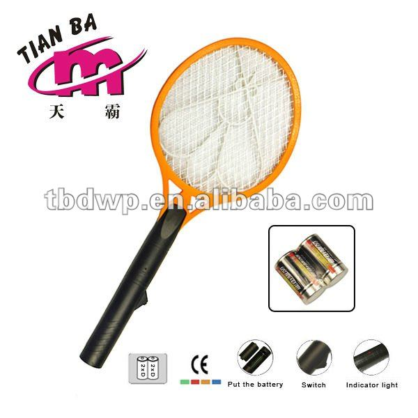 Recycling Electronic mosquito swatter with 1 battery