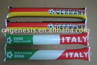 PE Promotional cheering stick/ inflatable fan stick