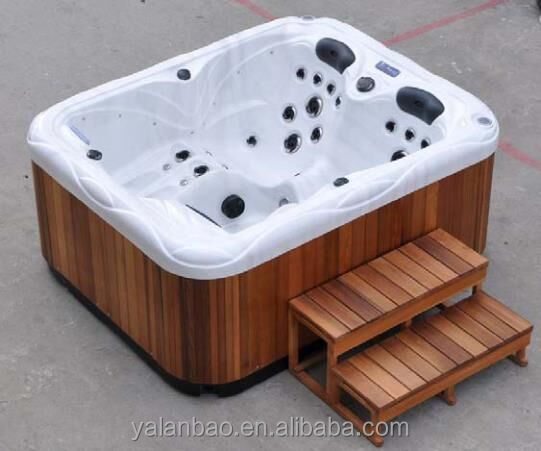 2- 3 person massage whirlppol bathtub outdoor spa hot tub from China