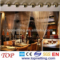 metal hollow beaded decorative ball chains modern curtains