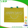 Sale factory yellow pp woven promo recycled shopping bag