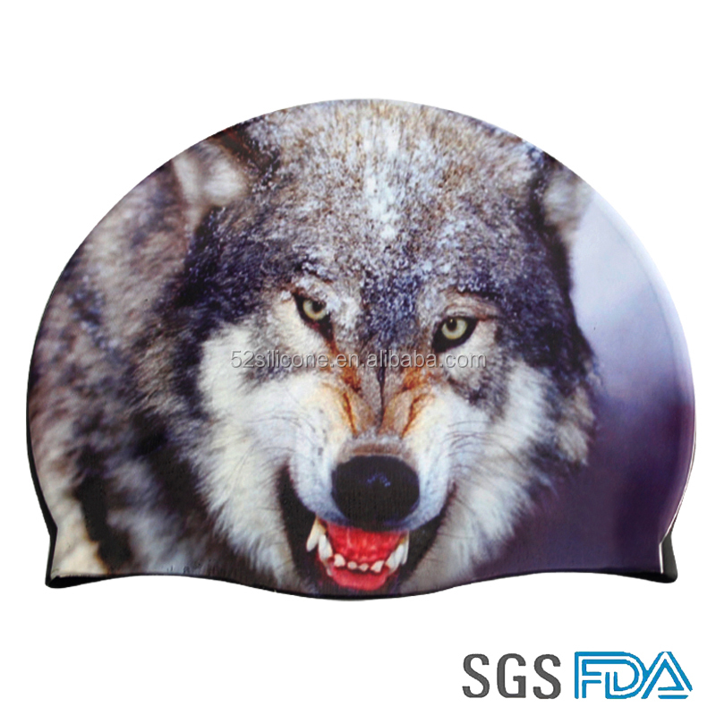 Silicone rubber swimming cap Silastic swim caps Wolf waterproof swimming caps