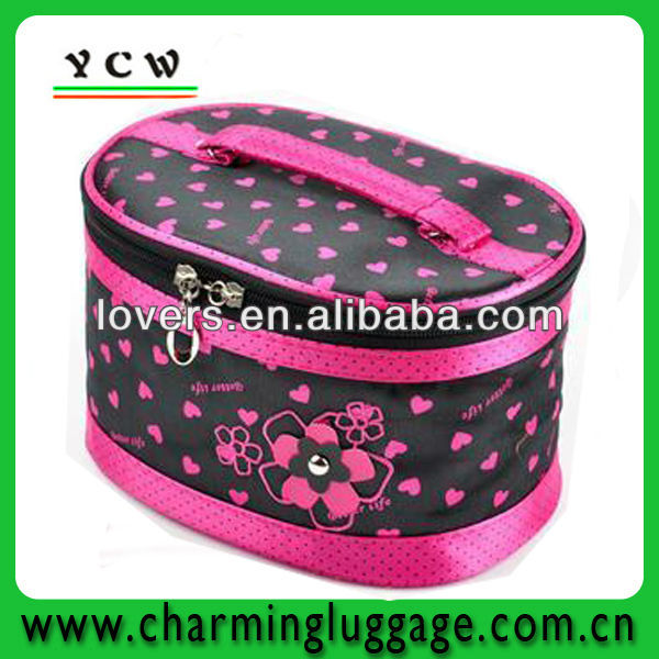 Beautiful satin eva cosmetic case