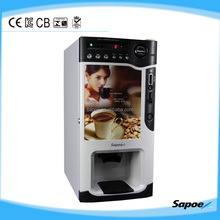 Best price coffee vending machine with coin and drop-cup system from Sapoe factory