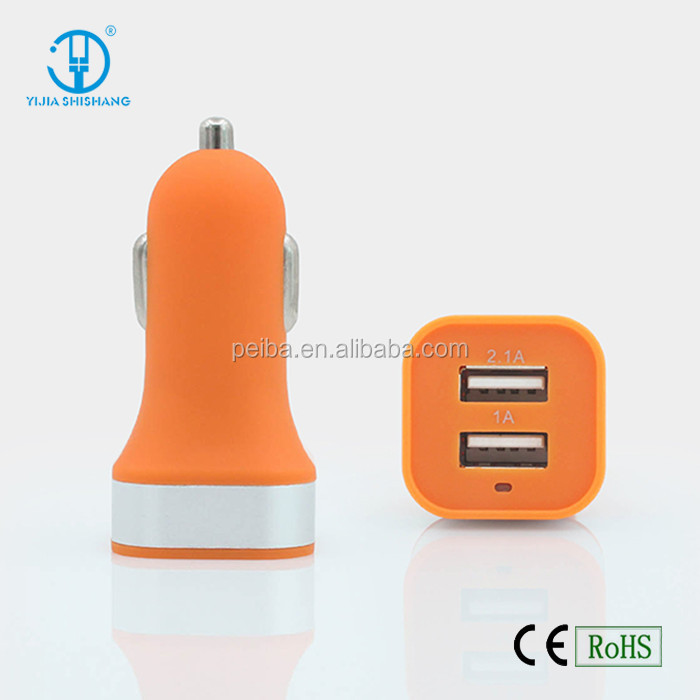 2 in 1 dual usb car charger for smartphone, Multi usb data cable with top quality