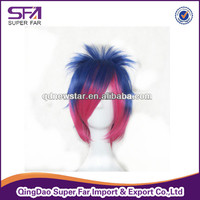wholesale synthetic cosplay wig ,colorful party wig
